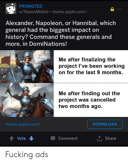 PROMOTED uNexonMobile Itunesapplecom Alexander Napoleon or Hannibal