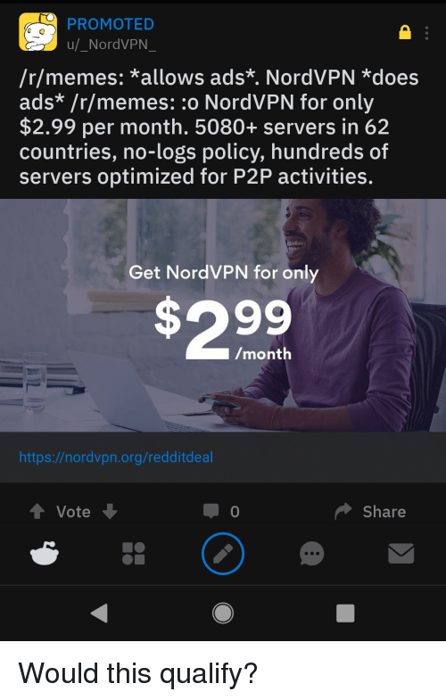 PROMOTED uNordVPN Rmemes *Allows Ads* NordVPN *Does Ads