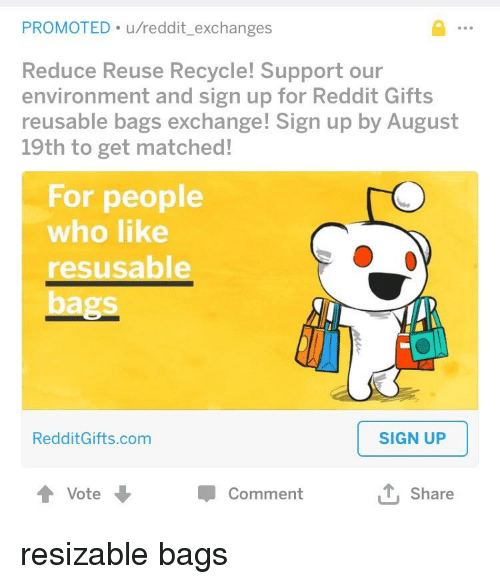 PROMOTED Ureddit Exchanges Reduce Reuse Recycle Support Our