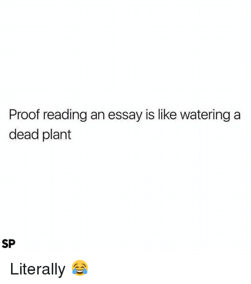 ✅ best memes about plant plant memes proof reading and aed proof reading an essay is like watering a dead