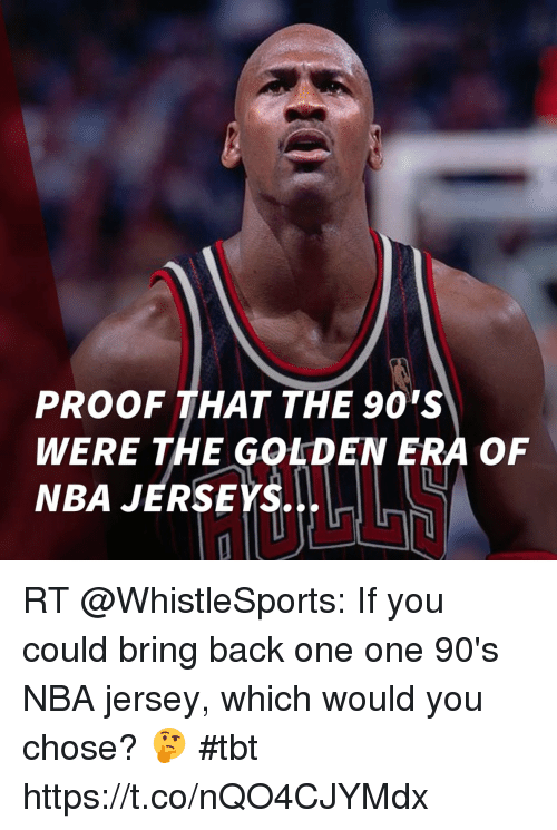 reputable site 0f3ed 1f2ee PROOF THAT THE 90'S WERE THE GOLDEN ERA OF NBA JERSEYS RT if ...
