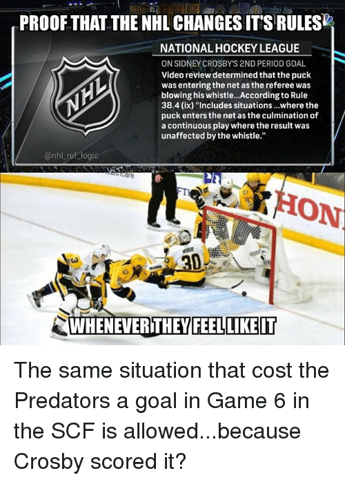 Proof That The Nhl Changes Its Rules National Hockey League On