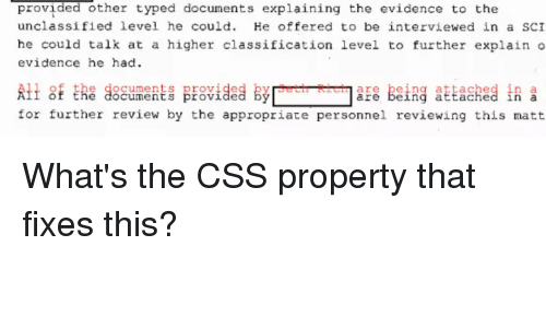Provided Other Typed Documents Explaining the Evidence to