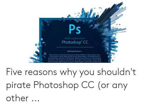 Ps Adobe Creative Cloud Photoshop* CC Reading Preferences Thomas