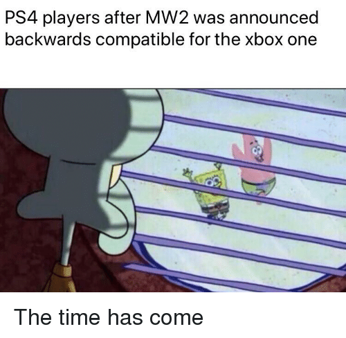 PS4 Players After MW2 Was Announced Backwards Compatible for the