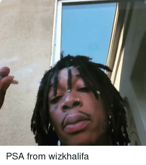 Memes, 🤖, and Psa: PSA from wizkhalifa