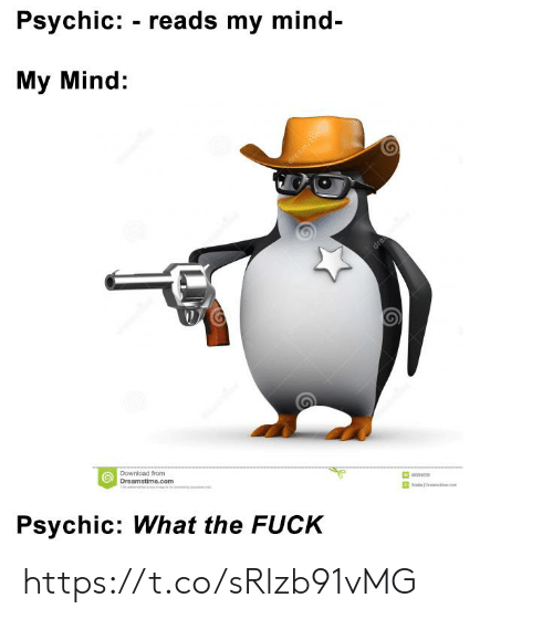 Fuck, Mind, and Com: Psychic: - reads my mind  My Mind:  Download from  Dreamstime.com  55653  Psychic: What the FUCK https://t.co/sRlzb91vMG