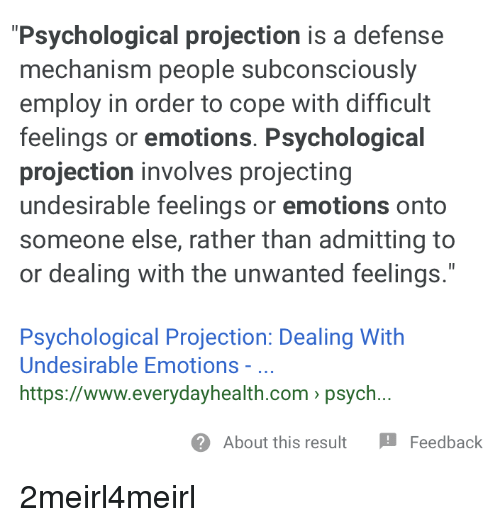 projecting on someone