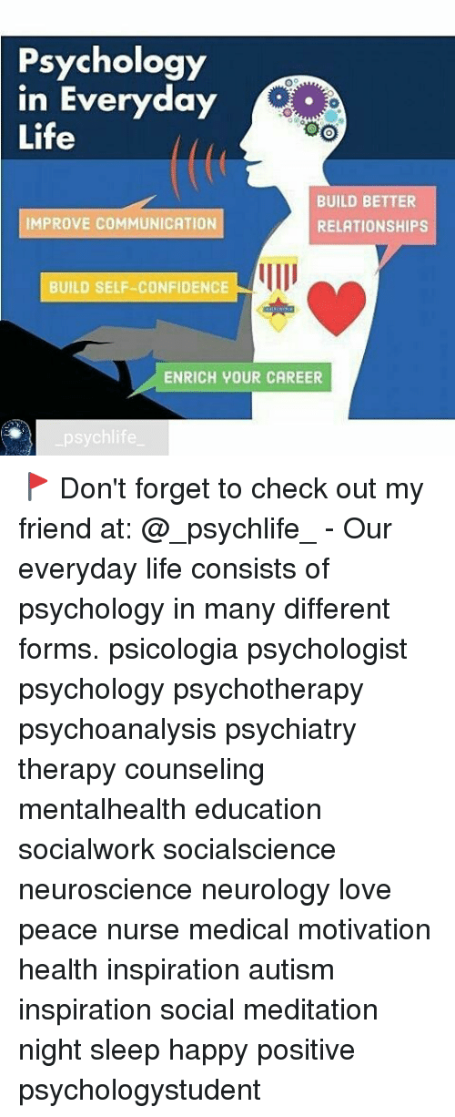 Psychology in Everyday Life TOO BUILD BETTER IMPROVE