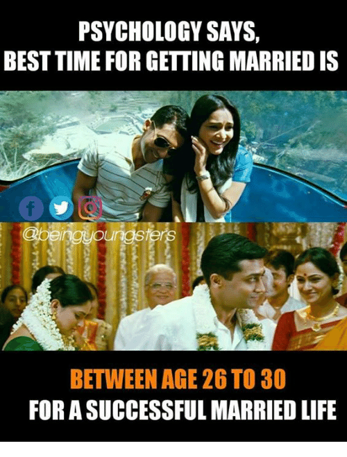 which is the right age to get married