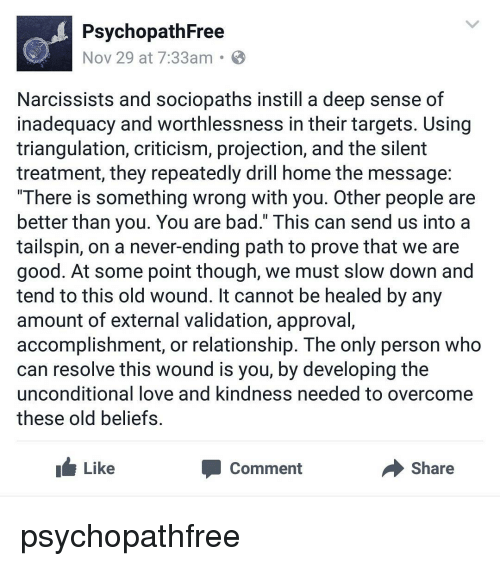 Psychopath Free Nov 29 at 733am Narcissists and Sociopaths