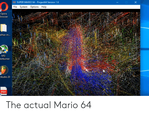PT SUPER MARIO 64-Project64 Version 16 File System Options