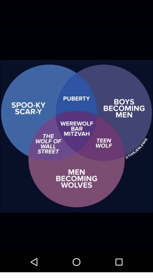PUBERTY SPOO-KY SCAR-Y BOYS BECOMING MEN WEREWOLF BAR THE MITZVAH