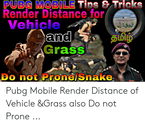 PUBG MOBILE Tips & Tricks Render Distance for Vehicle and Grass DO