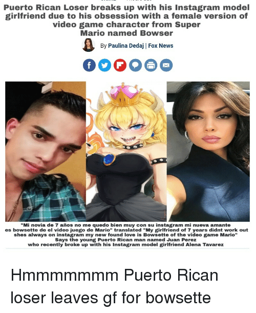 Puerto Rican Loser Breaks Up With His Instagram Model Girlfriend