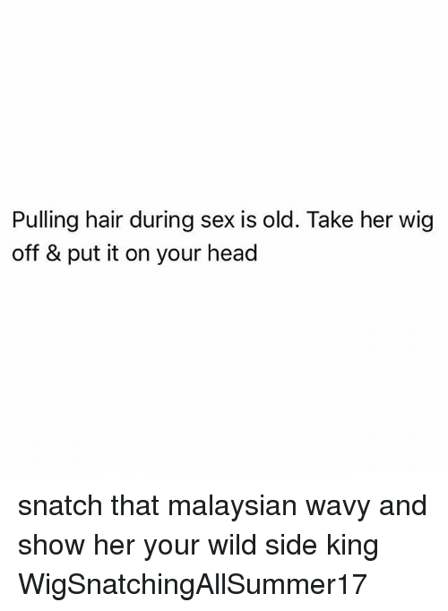hair pulling during sex