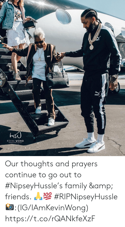 Family, Friends, and Puma: PUMA  KEVIN WONG  PHOTOGRAPHY Our thoughts and prayers continue to go out to #NipseyHussle's family & friends. 🙏💯 #RIPNipseyHussle 📸:(IG/IAmKevinWong) https://t.co/rQANkfeXzF