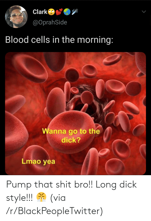 Blackpeopletwitter, Via, and Bro: Pump that shit bro!! Long dick style!!! 😤 (via /r/BlackPeopleTwitter)