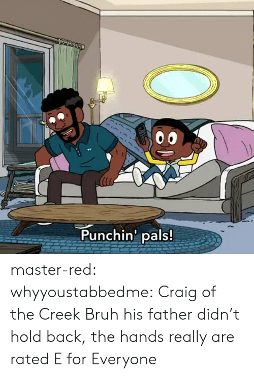 Bruh, Target, and Tumblr: Punchin' pals! master-red:  whyyoustabbedme:   Craig of the Creek Bruh his father didn't hold back, the hands really are rated E for Everyone