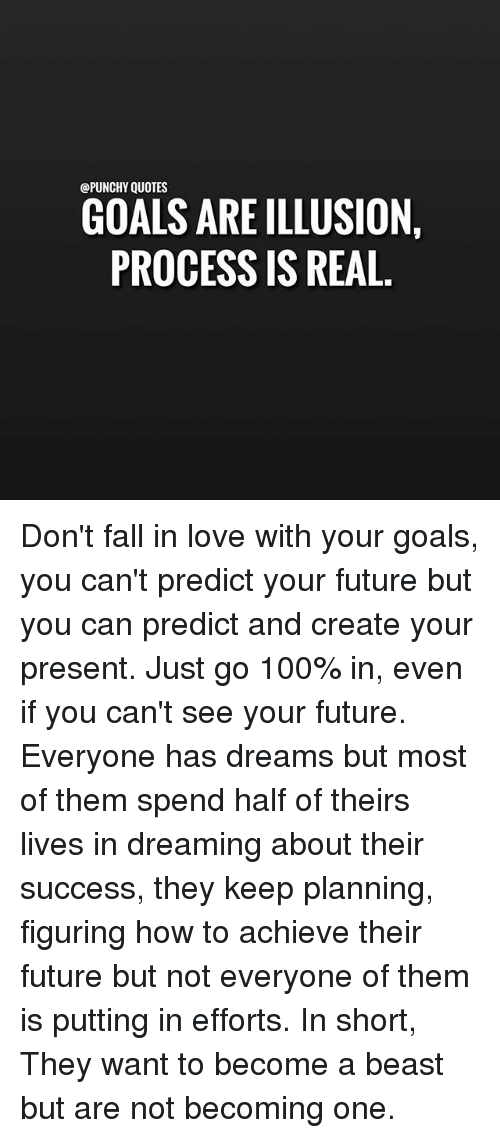 Quotes Goals Are Illusion Process Is Real Dont Fall In Love With