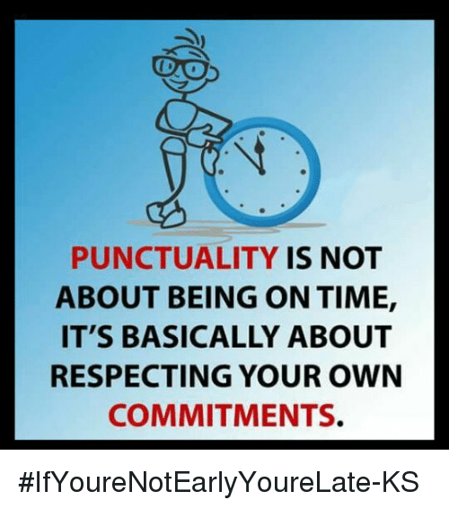 Image result for punctuality meme