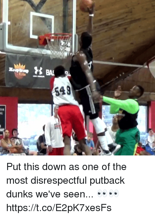 Memes, 🤖, and One: Put this down as one of the most disrespectful putback dunks we've seen... 👀👀 https://t.co/E2pK7xesFs