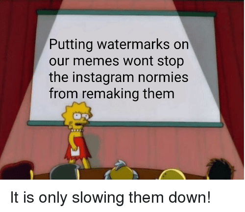 Instagram, Memes, and Reddit: Putting watermarks on  our memes wont stop  the instagram normies  from remaking them