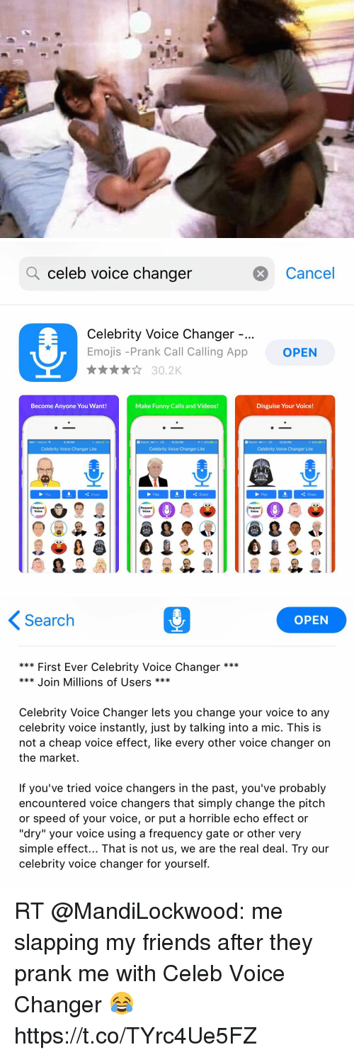Q Celeb Voice Changer Cancel Celebrity Voice Changer Emojis