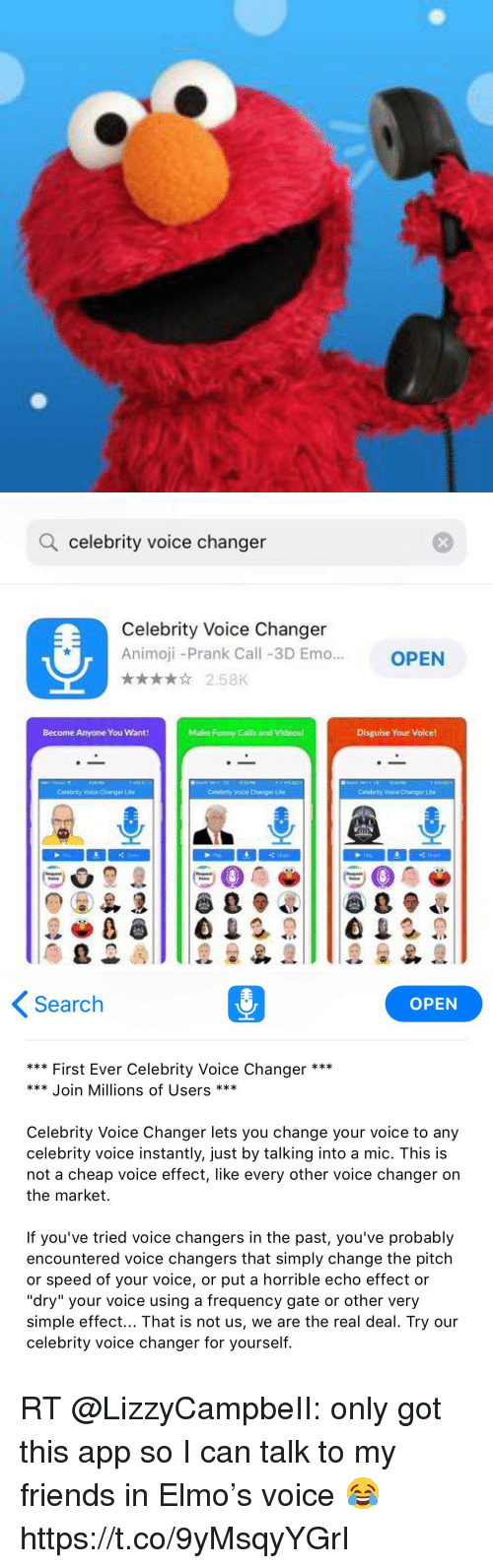 Q Celebrity Voice Changer Celebrity Voice Changer Animoji