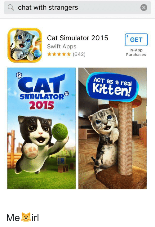Q Chat With Strangers Cat Simulator 2015 GET In-App Purchases 642