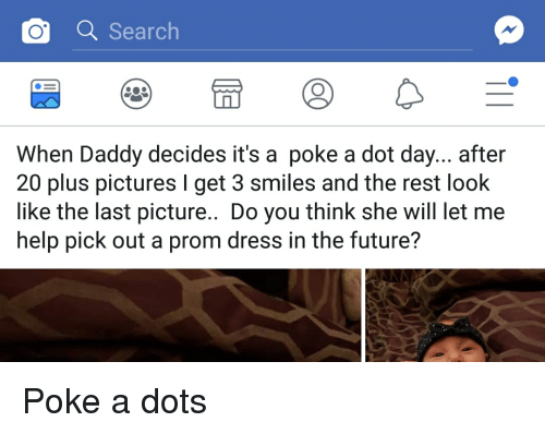 Daddy pokes lad