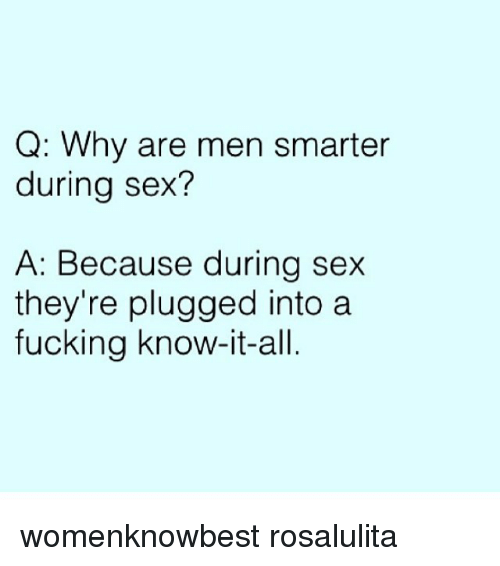 Which sex is the smarter sex