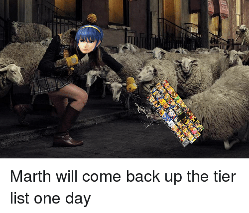 Qa Marth Will Come Back Up the Tier List One Day | Emblem