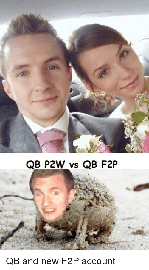 Account, New, and  F2p: QB P2W vs QB F2P