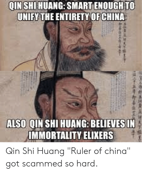 QIN SHI HUANG SMART ENOUGH TO UNIFY THE ENTIRETY OF CHINA