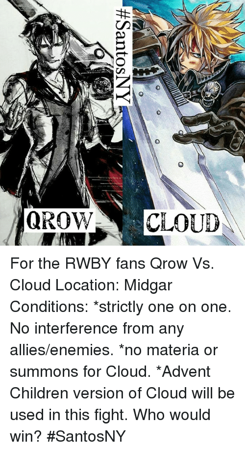 QROW CLOUE for the RWBY Fans Qrow vs Cloud Location Midgar