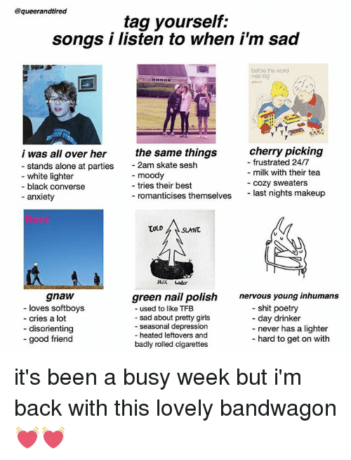 Songs about being depressed and alone