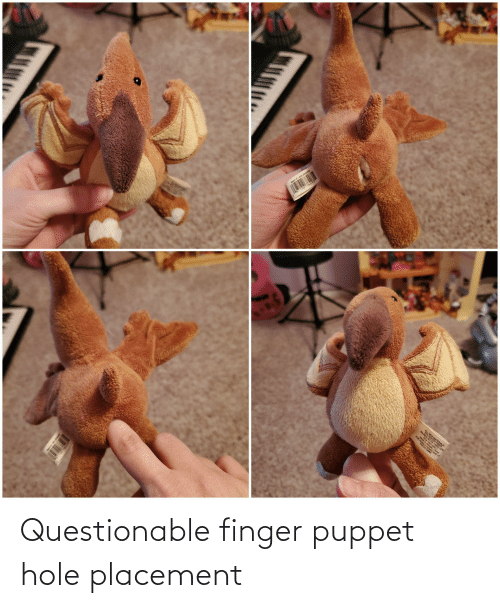Puppet, Hole, and Finger: Questionable finger puppet hole placement