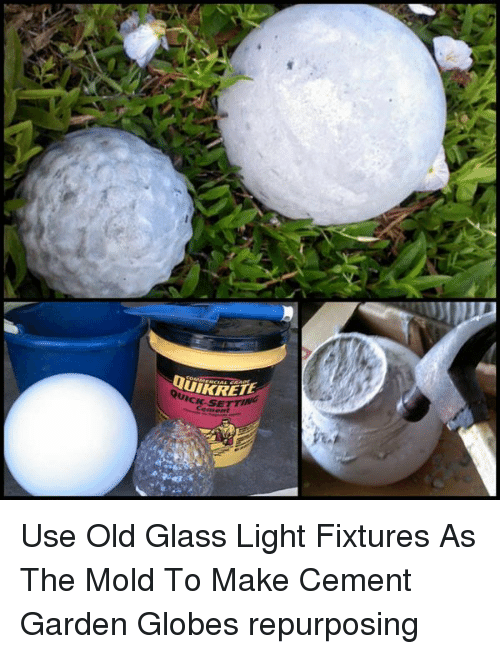 QUICK-SEM Use Old Glass Light Fixtures as the Mold to Make