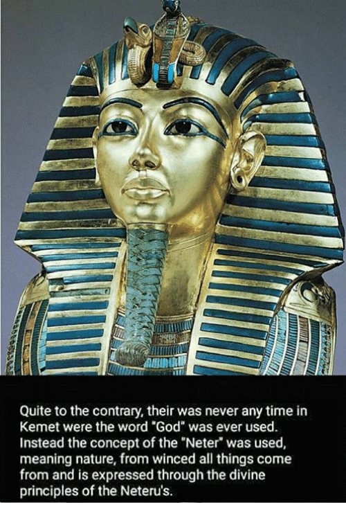 Quite to the Contrary Their Was Never Any Time in Kemet Were