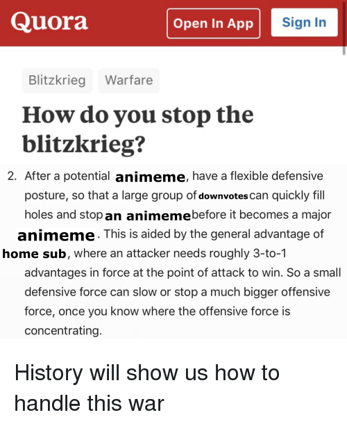cb924f695a42d Holes, History, and Home: Quora Open In App Sign In Blitzkrieg Warfare How. Save  save meme