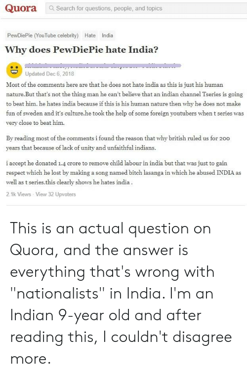 Quora Search for Questions People and Topics PewDiePie