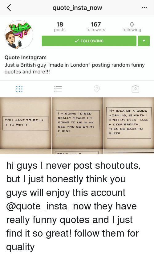 Quote Insta Now 167 18 Followers Following Posts FOLLOWING ...
