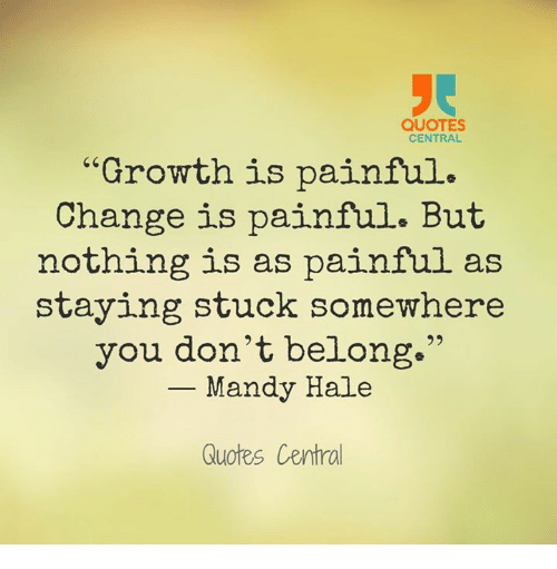 QUOTES CENTRAL Growth Is Painful Change Is Painful but ...