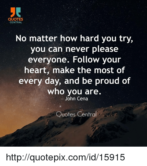 Quotes You Can Please Everyone: QUOTES CENTRAL No Matter How Hard You Try You Can Never