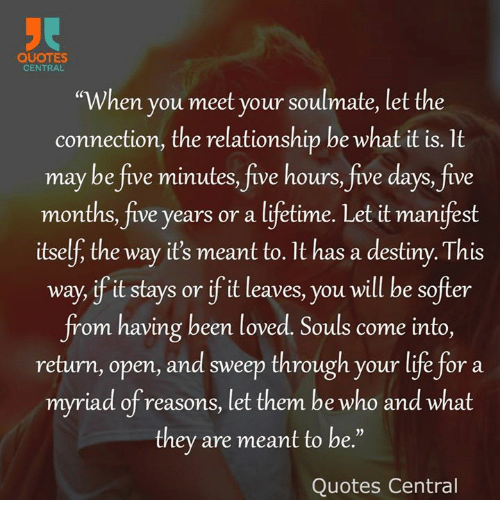 Quotes Central When You Meet Your Soulmate Let The Connection The