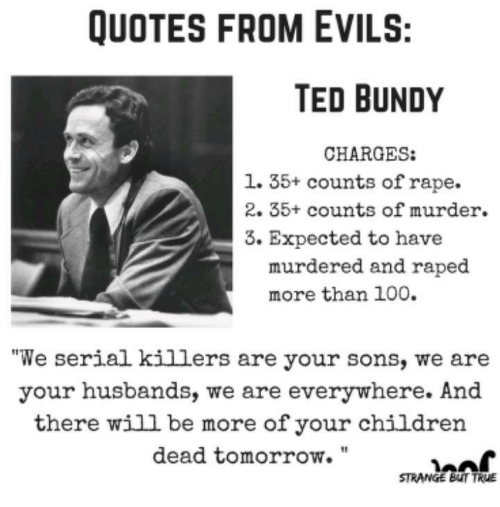 Rape Quotes Cool Quotes From Evils Ted Bundy Charges 1 35 Counts Of Rape 2 35