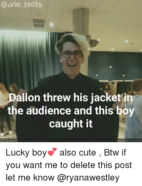 qurie facts allon threw his jacket in the audience and this boy