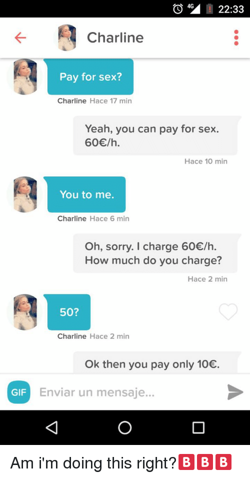 How much to pay for sex