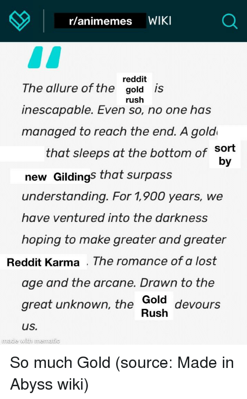 Ranimemes WIKI Reddit the Allure of the Gold Is Inescapable